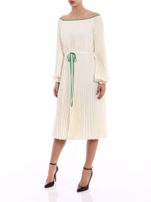 Valentino: cocktail dresses online - Delicate pleated silk bucolic dress