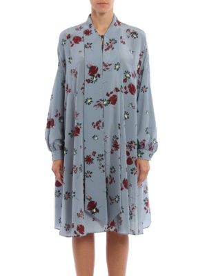 Valentino: cocktail dresses online - Floral print silk dress