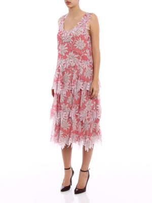 Valentino: cocktail dresses online - Flower cut-out romantic silk dress