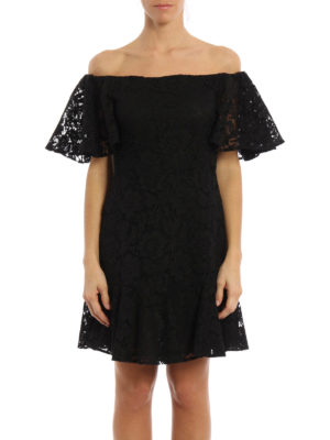 Valentino: cocktail dresses online - Heavy Lace off the shoulder dress