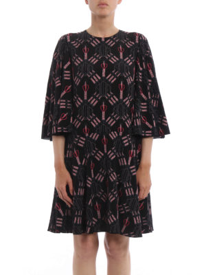 Valentino: cocktail dresses online - Loveblade print silk flared dress