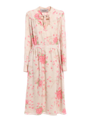 Valentino: cocktail dresses - Rose print silk sophisticated dress