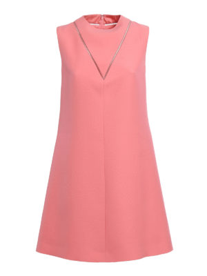Valentino: cocktail dresses - Wool and silk crepe flared dress