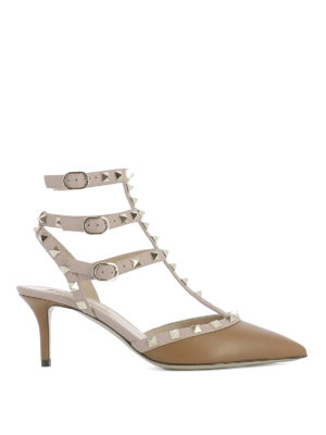 Valentino: court shoes - Rockstud leather pumps
