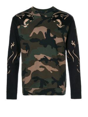 Valentino: crew necks - Camupanther cashmere sweater