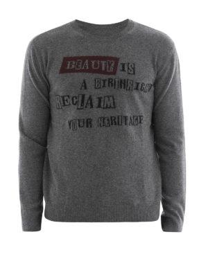 Valentino: crew necks - Intarsia wool cashmere sweater