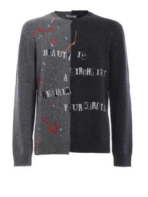 Valentino: crew necks - Jamie Reid wool cashmere sweater