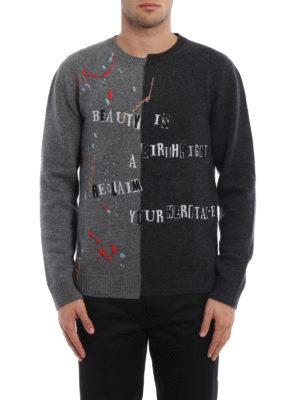 Valentino: crew necks online - Jamie Reid wool cashmere sweater