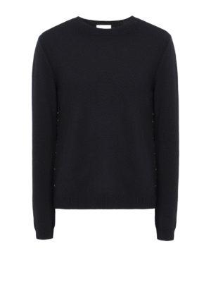 Valentino: crew necks - Rockstud Untitled cashmere jumper