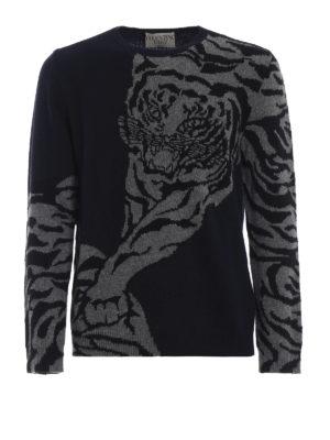 VALENTINO: maglia collo rotondo - Pull di lana e cashmere jacquard