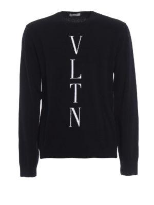 Valentino: crew necks - VLTN intarsia wool cashmere sweater