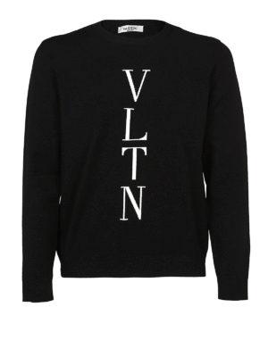 VALENTINO: maglia collo rotondo - Girocollo in misto viscosa VLTN
