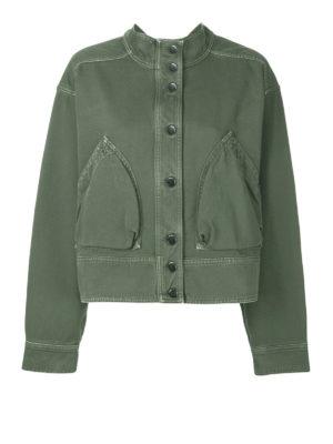 VALENTINO: giacche denim - Giacca in denim verde militare
