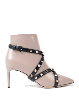 Valentino Garavani: ankle boots - Crisscrossed straps ankle boots