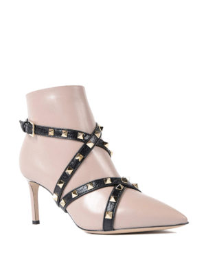 Valentino Garavani: ankle boots online - Crisscrossed straps ankle boots