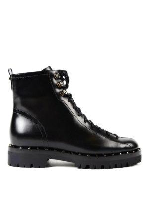 Valentino Garavani: ankle boots - Soul Rockstud leather combat boots