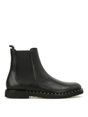 Valentino Garavani: ankle boots - Stud detailed Beatle boots