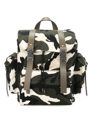 Valentino Garavani: backpacks - Camu canvas backpack