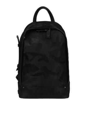 Valentino Garavani: backpacks - Camu nylon one shoulder backpack