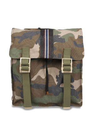 Valentino Garavani: backpacks - Camu print canvas backpack