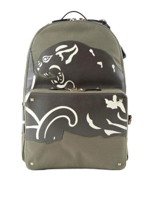Valentino Garavani: backpacks - Leather panther backpack