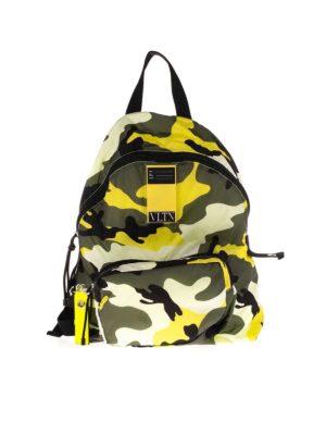 VALENTINO GARAVANI: backpacks - Logo patch backpack camouflage