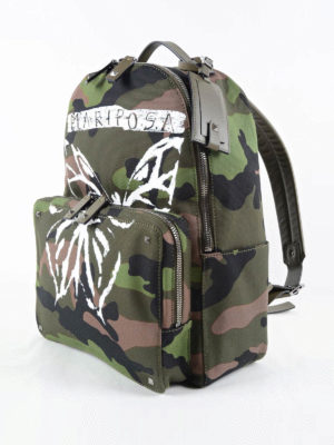 Valentino Garavani: backpacks online - Camouflage backpack with butterfly