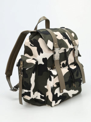 Valentino Garavani: backpacks online - Camu canvas backpack