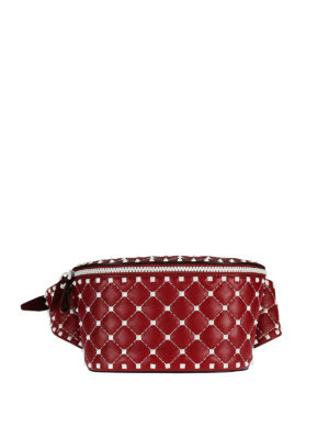 Valentino Garavani: belt bags - Rockstud leather belt bag
