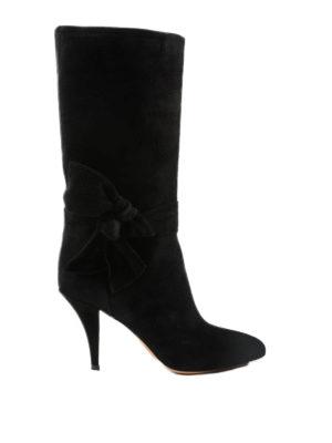 VALENTINO GARAVANI: stivali - Stivali in camoscio con fiocco