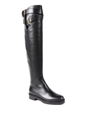 Valentino Garavani: boots online - Over the knee leather boots