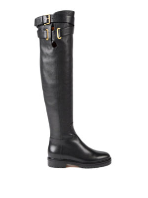 Valentino Garavani: boots - Over the knee leather boots