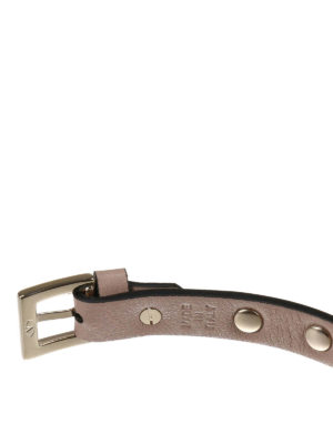 Valentino Garavani: Bracelets & Bangles online - Rockstud leather bracelet
