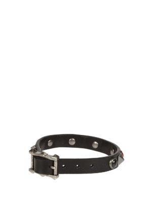 Valentino Garavani: Bracelets & Bangles online - Studded leather bracelet