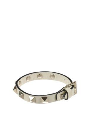 Valentino Garavani: Bracelets & Bangles - Rockstud leather bracelet