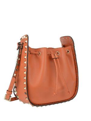 Valentino Garavani: Bucket bags online - Rockstud leather bucket bag