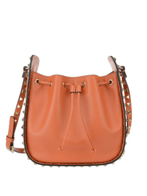 Valentino Garavani: Bucket bags - Rockstud leather bucket bag