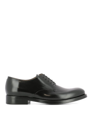 Valentino Garavani: classic shoes - Derby brushed leather lace-up shoes