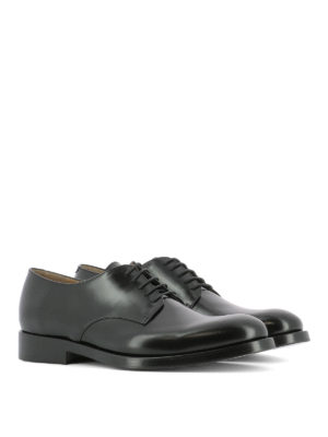 Valentino Garavani: classic shoes online - Derby brushed leather lace-up shoes