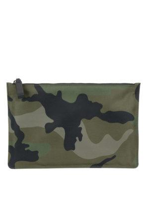 VALENTINO GARAVANI: pochette - Clutch camouflage verdone