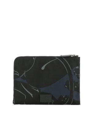 Valentino Garavani: clutches - Camupanther techno fabric clutch