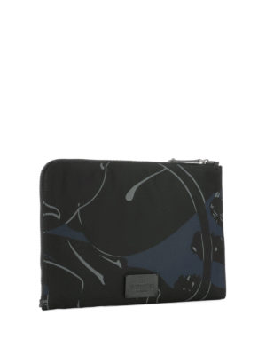 Valentino Garavani: clutches online - Camupanther techno fabric clutch