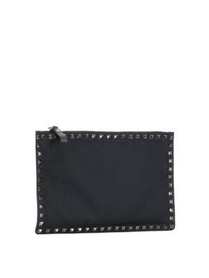 Valentino Garavani: clutches online - Rockstud flat pouch