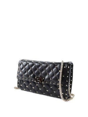 Valentino Garavani: clutches online - Rockstud quilted leather clutch