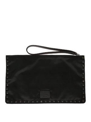 Valentino Garavani: clutches online - Stud embellished flat clutch