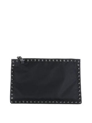 Valentino Garavani: clutches - Rockstud flat pouch