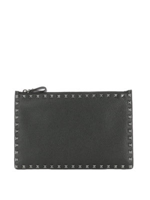 Valentino Garavani: clutches - Rockstud leather flat pouch