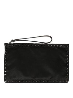 Valentino Garavani: clutches - Stud embellished flat clutch