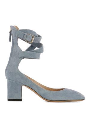 Valentino Garavani: court shoes - Ankle wrap suede pumps