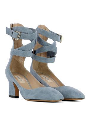 Valentino Garavani: court shoes online - Ankle wrap suede pumps